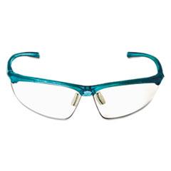 3M™ Refine 201 Safety Glasses, Half-frame, Clear AntiFog Lens, Teal Frame