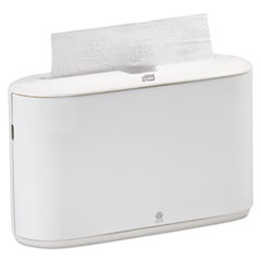 "Tork® Countertop Towel Dispenser, White, Plastic, 14.76"" x 6.69"" x 10.43"""