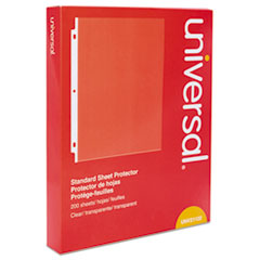 Universal® Standard Sheet Protector, Standard, 8 1/2 x 11, Clear, 200/Box
