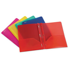 "Oxford™ Two-Pocket Portfolio, Tang Fastener, 1/2"" Capacity, Assorted Colors, 25/Box"