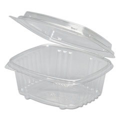Genpak® Clear Hinged Deli Container, APET, 12 oz, 5 3/8 x 4 1/2 x 2 7/8, 200/Carton