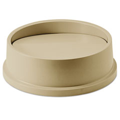 Rubbermaid® Commercial Swing Top Lid for Round Waste Container, Plastic, Beige