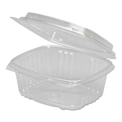 Genpak® Clear Hinged Deli Container, Plastic, 12 oz, 5-3/8 x 4-1/2 x 2-1/2, 200/Carton