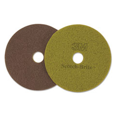 "Scotch-Brite™ Diamond Floor Pads, 19"" Diameter, Sienna, 5/Carton"