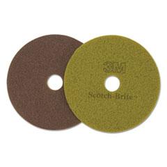 "Scotch-Brite™ Diamond Floor Pads, 16"" Diameter, Sienna, 5/Carton"