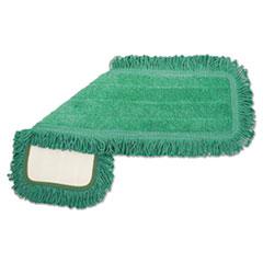 Boardwalk® Microfiber Dust Mop Head, 18 x 5, Green, 1 Dozen