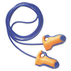 Howard Leight® by Honeywell LT-30 Laser Trak Single-Use Earplugs, Corded, 32NRR, Orange/Blue, 100 Pairs