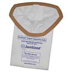 Janitized® Vacuum Filter Bags Designed to Fit ProTeam Super Coach Pro 6/GoFree Pro, 100/CT