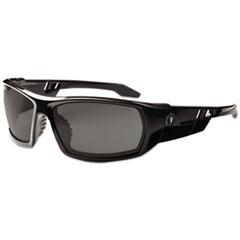 ergodyne® Skullerz Odin Safety Glasses, Black Frame/Smoke Lens, Nylon/Polycarb