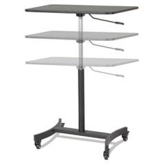 Victor® High Rise Mobile Adjustable Sit-Stand Workstation, 30.75w x 22d x 44h, Black