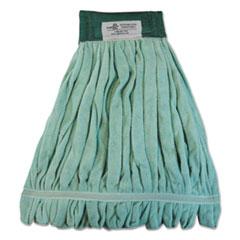 Boardwalk® Microfiber Looped-End Wet Mop Head, Large, Green, 12/Carton