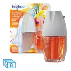 BRIGHT Air® Electric Scented Oil Air Freshener Warmer/Refill, Hawaiian Blossoms/Papaya, 8/CT