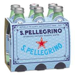 S. Pellegrino® Sparkling Natural Mineral Water, 8 oz Bottle, 24/Carton