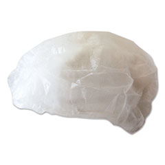 Boardwalk® Disposable Bouffant Caps, White, Medium, 100/Pack
