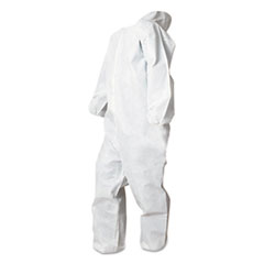 Boardwalk® Disposable Coveralls, White, X-Large, Polypropylene, 25/Carton
