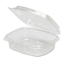 Genpak® Clear Hinged Deli Container, High Dome Lid, APET, 8 oz,5 3/8 x 4 1/2 x 2, 200/Ct