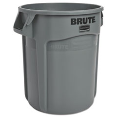 Rubbermaid® Commercial Round Brute Container, Plastic, 20 gal, Gray