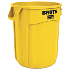 Rubbermaid® Commercial Round Brute Container, Plastic, 20 gal, Yellow