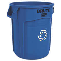 Rubbermaid® Commercial Brute Recycling Container, Round, 20 gal, Blue