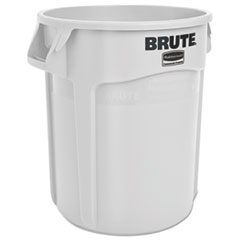 Rubbermaid® Commercial Round Brute Container, Plastic, 20 gal, White