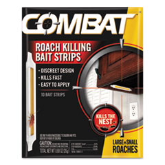 Combat® Ant Bait Insecticide Strips, 0.35 oz, 5/Box, 12 Box/Carton