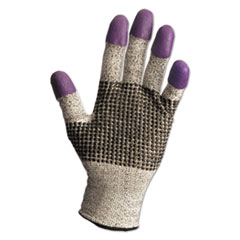 KleenGuard™ G60 Purple Nitrile Gloves, 230 mm Length, Medium/Size 8, Black/White, 12 Pair/CT
