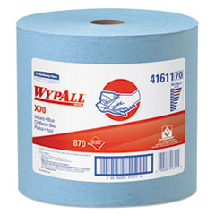 WypAll® X70 Cloths, Jumbo Roll, 12 1/2 x 13 2/5, Blue, 870/Roll