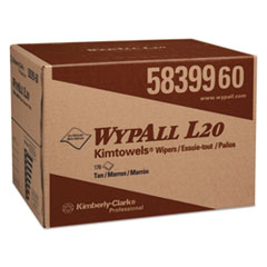 WypAll® L20 Towels, BRAG Box, 2-Ply, 12 1/2 x 16 4/5, Brown, 176/Box