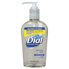 Dial® Professional Antimicrobial Soap for Sensitive Skin, 7.5 oz Decor Pump Bottle, Floral, 12/CT