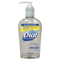 Dial® Professional Antimicrobial Soap for Sensitive Skin, Floral, 7.5 oz Decor Pump Bottle, 12/Carton