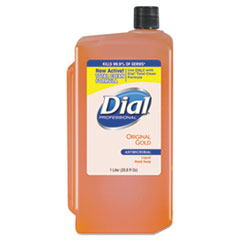 Gold Antimicrobial Liquid Hand Soap, Floral, 1000 mL Refill, 8/Carton