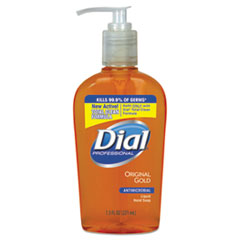 Dial® Professional Gold Antimicrobial Hand Soap, Floral Fragrance, 7.5 oz Pump Bottle, 12/Carton