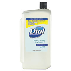 Dial® Professional Antimicrobial Soap with Moisturizers, Pleasant Scent, 1 L Refill, 8/Carton