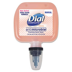 Dial® Professional Antimicrobial Foaming Hand Wash, Original, 1.25L Cassette Refill, 3/Carton