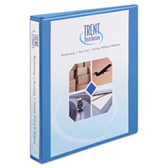 "Heavy-Duty Non Stick View Binder with DuraHinge and Slant Rings, 3 Rings, 1"" Capacity, 11 x 8.5, Light Blue"