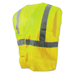 Boardwalk® Class 2 Safety Vests, Lime Green/Silver, Standard