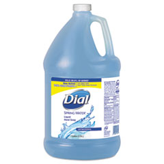 Dial® Antimicrobial Liquid Hand Soap, Spring Water Scent, 1 gal Bottle, 4/Carton