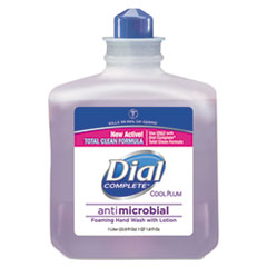 Dial® Professional Antimicrobial Foaming Hand Wash, Cool Plum Scent, 1000mL Bottle, 4/Carton