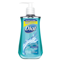 Dial® Antibacterial Liquid Hand Soap, Spring Water, 7.5 oz Bottle, 12/Carton