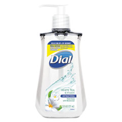 Dial® Antibacterial Liquid Soap, 7.5 oz Pump Bottle, White Tea, 12/Carton