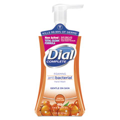 Dial® Antibacterial Foaming Hand Wash, Sea Berries, 7.5 oz Pump Bottle, 8/Carton