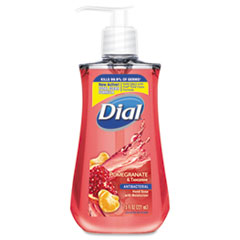 Dial® Antibacterial Liquid Soap, 7.5 oz Pump Bottle, Pomegranate and Tangerine, 12/Carton