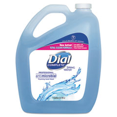 Dial® Professional Antimicrobial Foaming Hand Wash, Spring Water, 1 gal Bottle