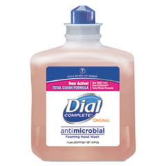 Dial® Professional Antimicrobial Foaming Hand Wash, 1000mL Refill, 6/Carton