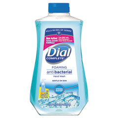 Dial® Antibacterial Foaming Hand Wash, Spring Water Scent, 32 oz Bottle