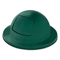 "Rubbermaid® Commercial Towne Series Dome Top Waste Receptacle Lids, 21"" dia, Green, Steel"