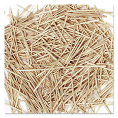 Flat Wood Toothpicks, Wood, Natural, 2,500/Pack