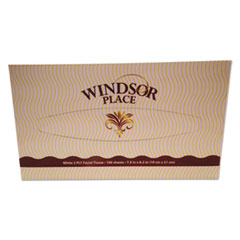 Resolute Tissue Windsor Place Facial Tissue, 2-Ply, 100 Sheets/Box, 30 Box/Carton