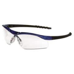 MCR™ Safety Dallas Wraparound Safety Glasses, Metallic Blue Frame, Clear AntiFog Lens