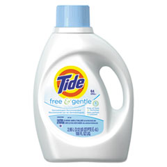 Tide® Free & Gentle Liquid Laundry Detergent, 100 oz Bottle, 4/Carton